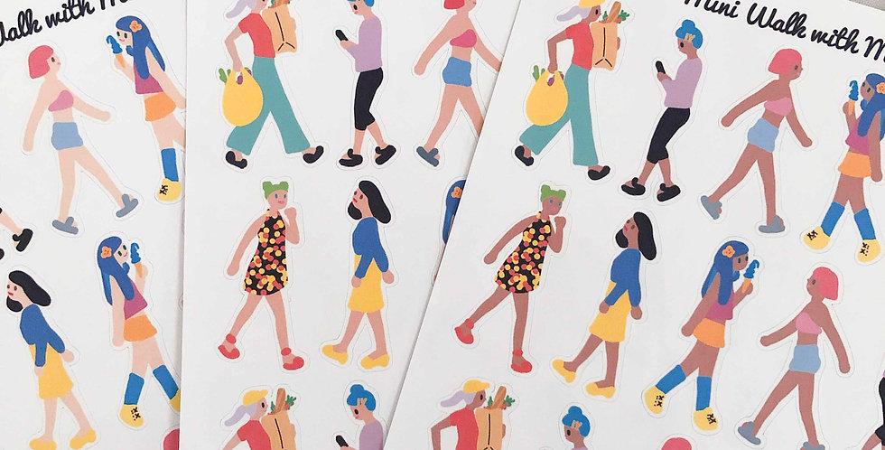 Mini Walk with me girls Stickers - Whole Body