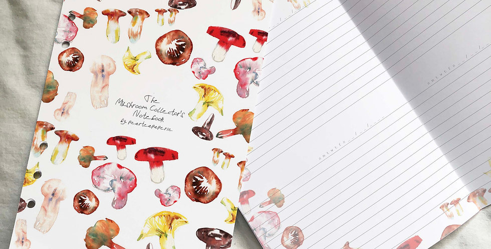 Mushroom Collector's Notebook Planner Inserts