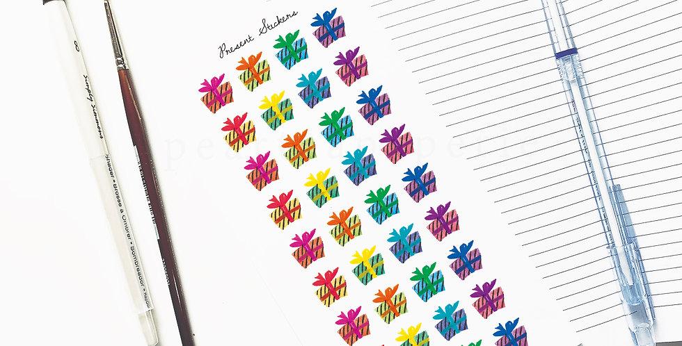 Present stickers 002