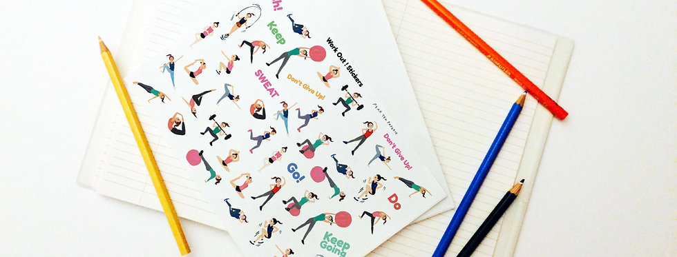 Work Out Series Stickers
