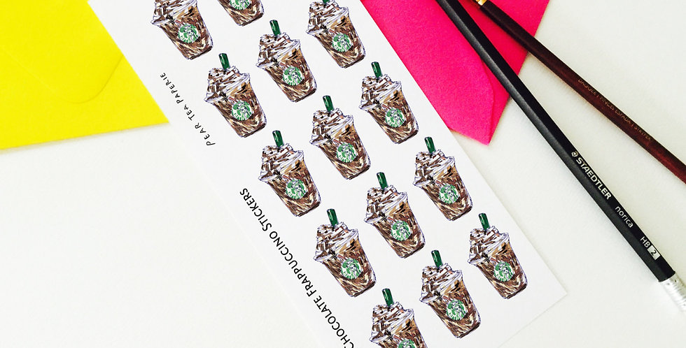 Chocolate Frappuccino Stickers