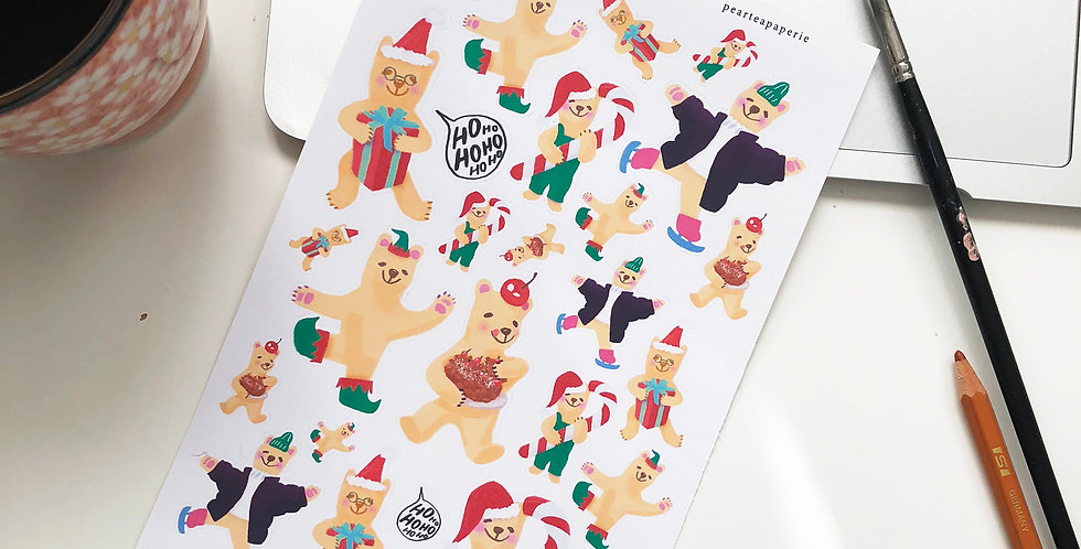 Holiday Bears Stickers