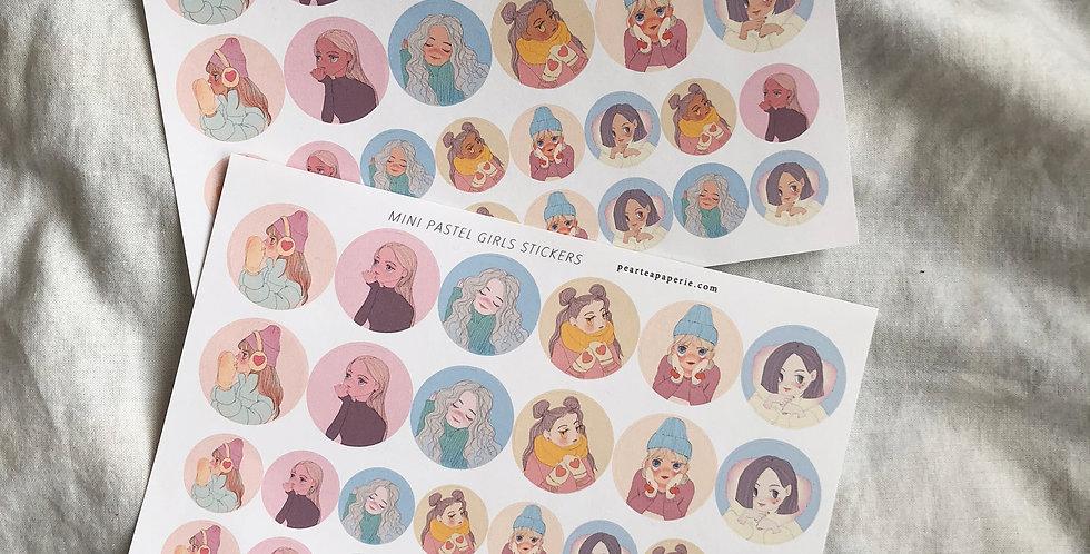 Mini Pastel Girls Stickers