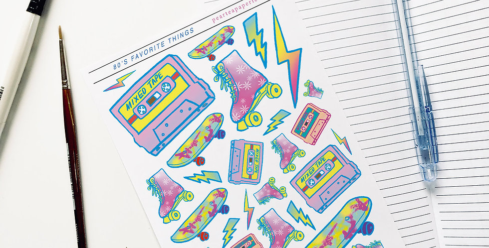 80's Favorite Things Stickers