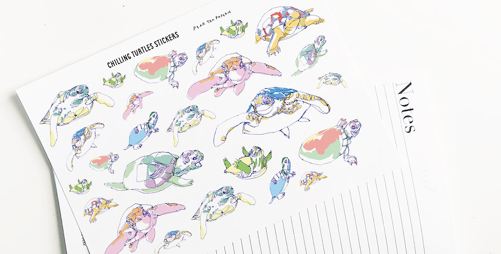 Chilling Turtle Stickers