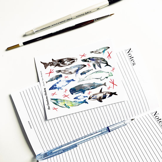 Sea creatures Whales Stickers