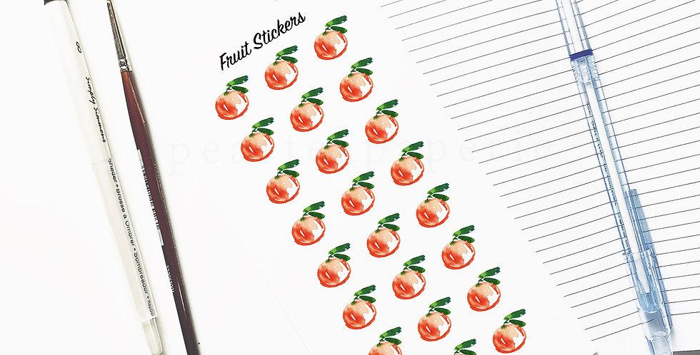 Peach Fruit stickers