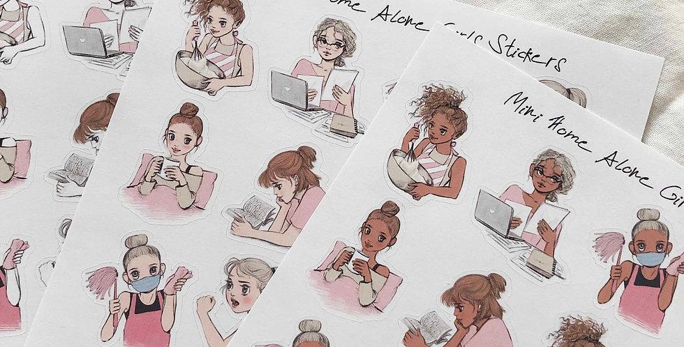 Mini Home Alone girls Stickers