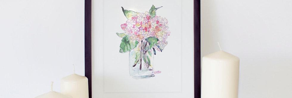 Vibernum Flower, Winter Flower Poster
