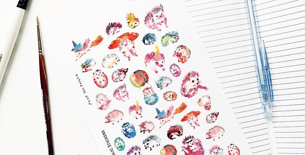 Hedgehog Holic Stickers