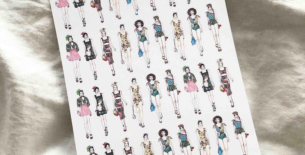 Mini Tropical Mood Fashion Girls - Whole Body