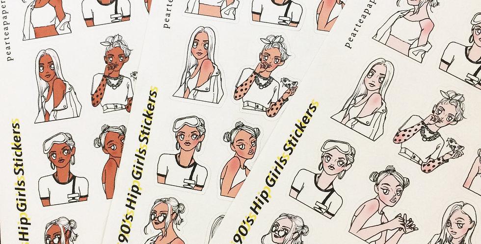 Mini 90's Hip Girls Stickers
