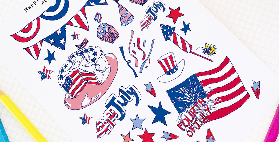 Happy July Fourth! Stickers