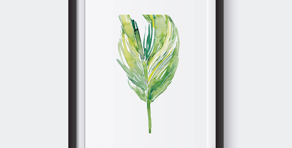 Botanical Tropical Leaves Poster