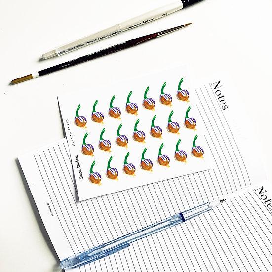 Onion stickers
