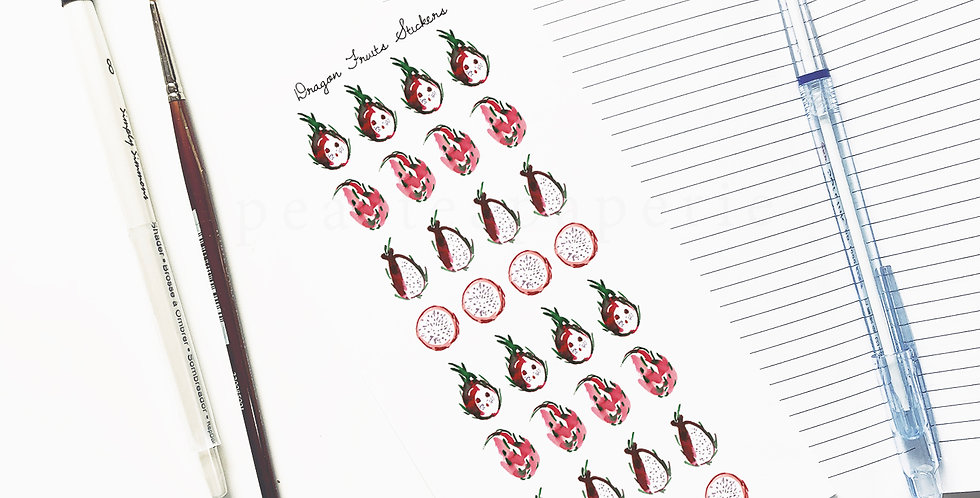 Dragon Fruits stickers