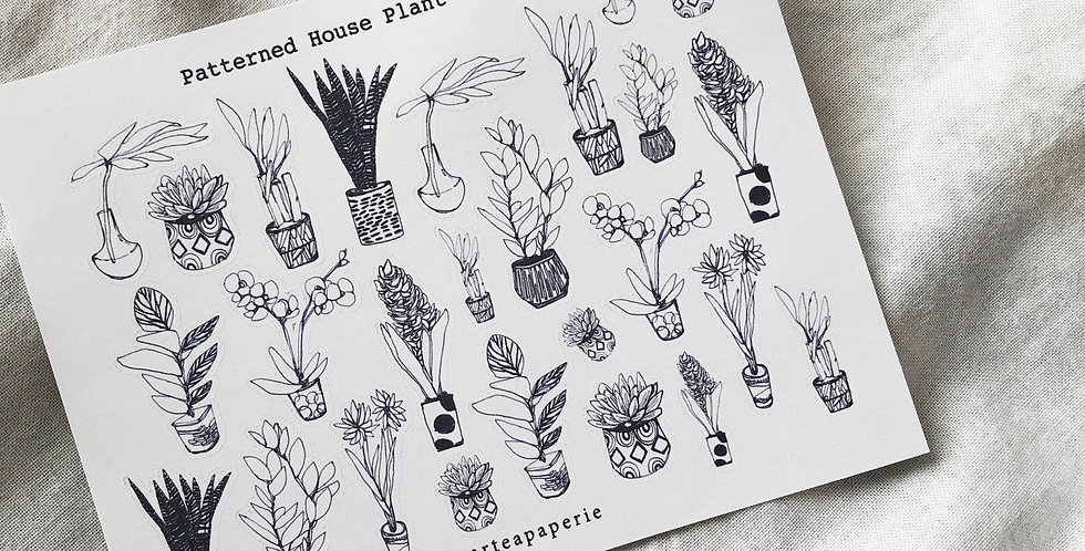Patterned House Plant Stickers