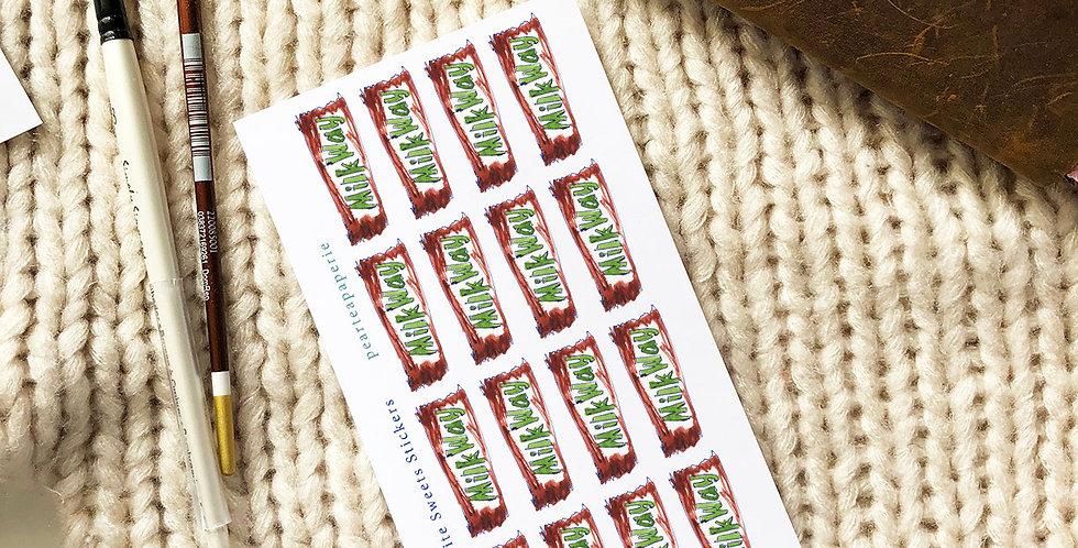 My Favorite Sweets Stickers MilkWay