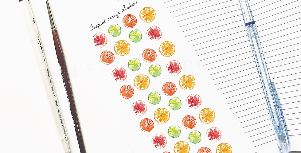 Tropical orange stickers