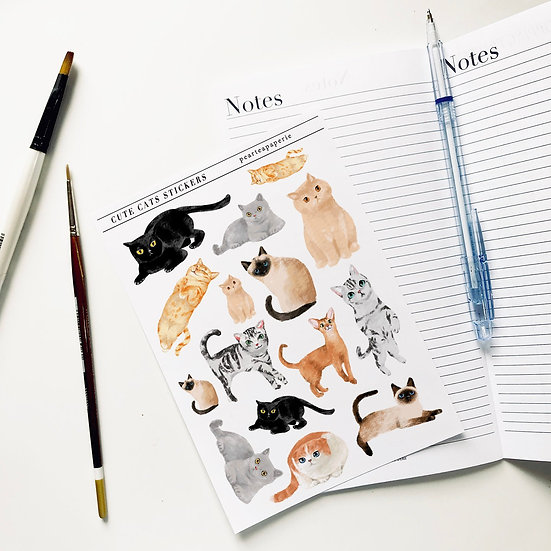Cute Cats Stickers