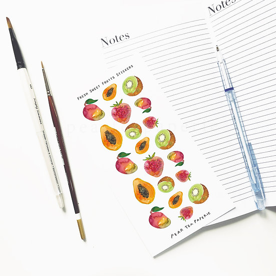 Fresh Sweet fruits stickers