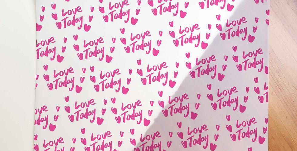 Love Today Pattern Vellum Paper (Folded)