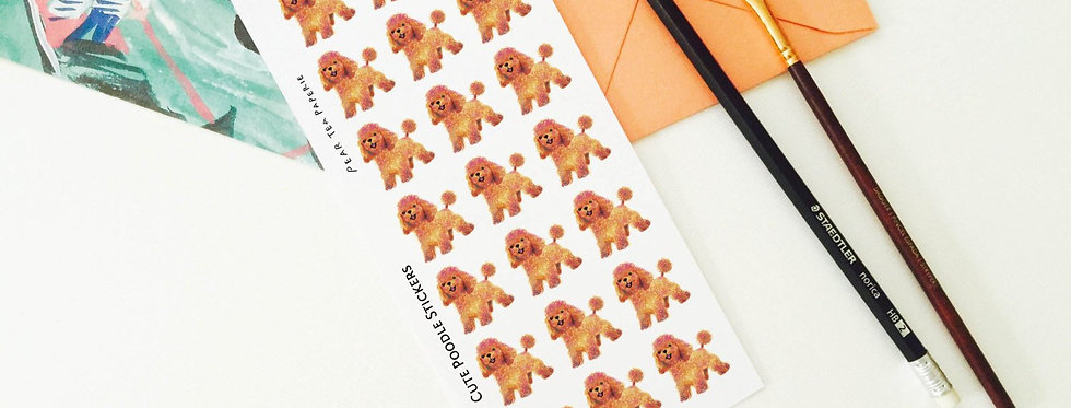 Poodles Stickers
