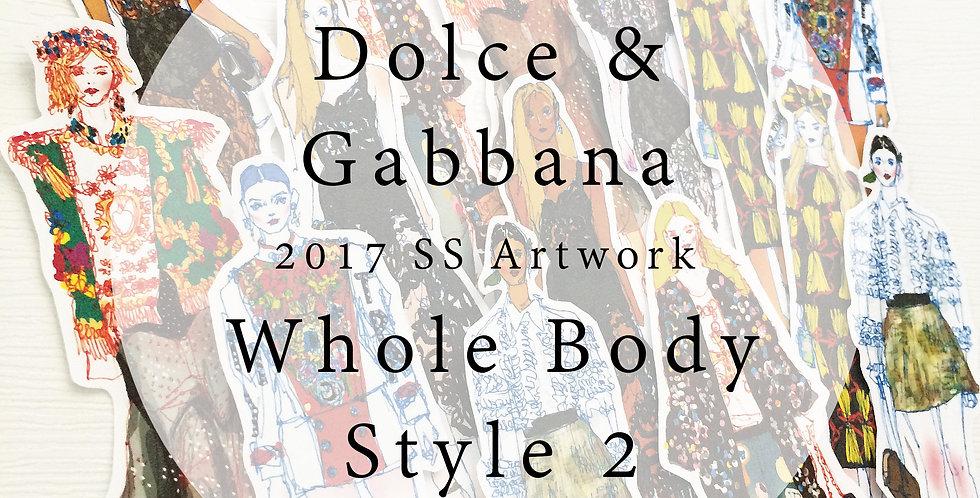 2017 Dolce and Gabbana Style Fashion Girl (Set 002)