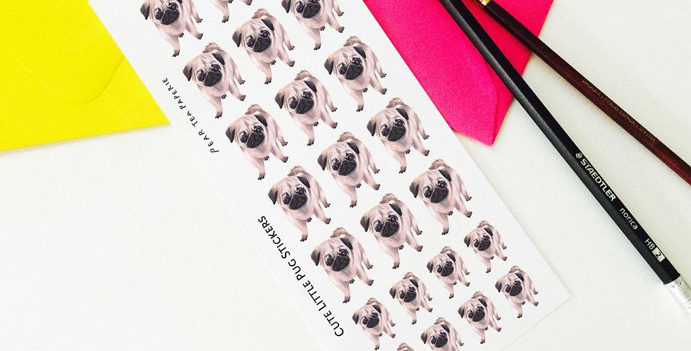 Cute Pug Stickers