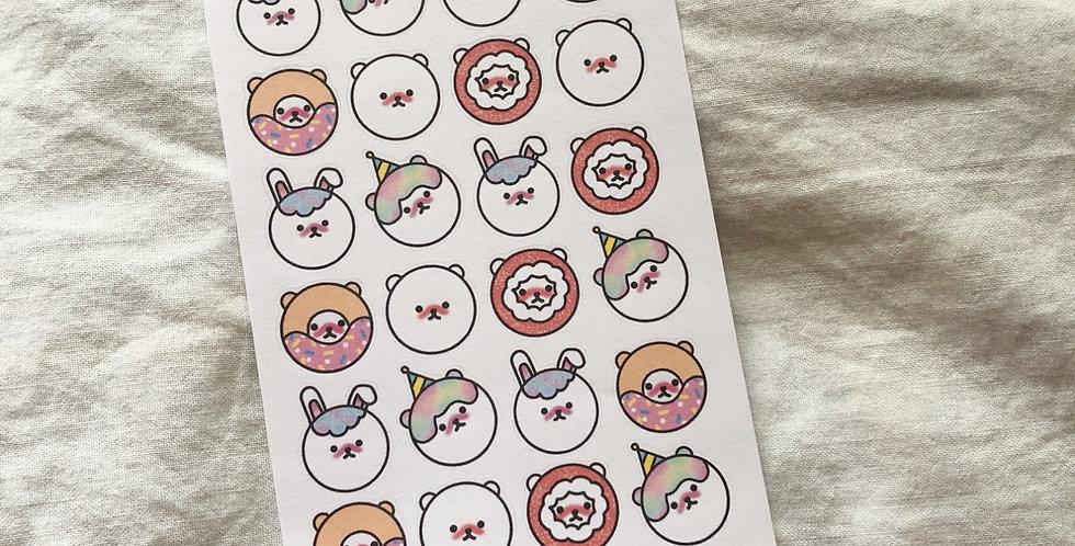 Kawaii Bears Stickers