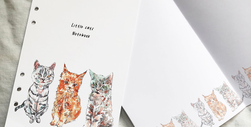 Little Cats Notebook Planner Inserts