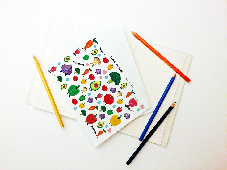 Eat Me! Series - Fruit and Vegetable Art Sticker