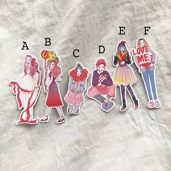 LOVE Girls Stickers (Whole Body)
