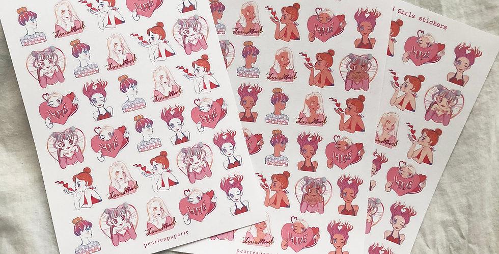 Mini Love Mood Girls Stickers
