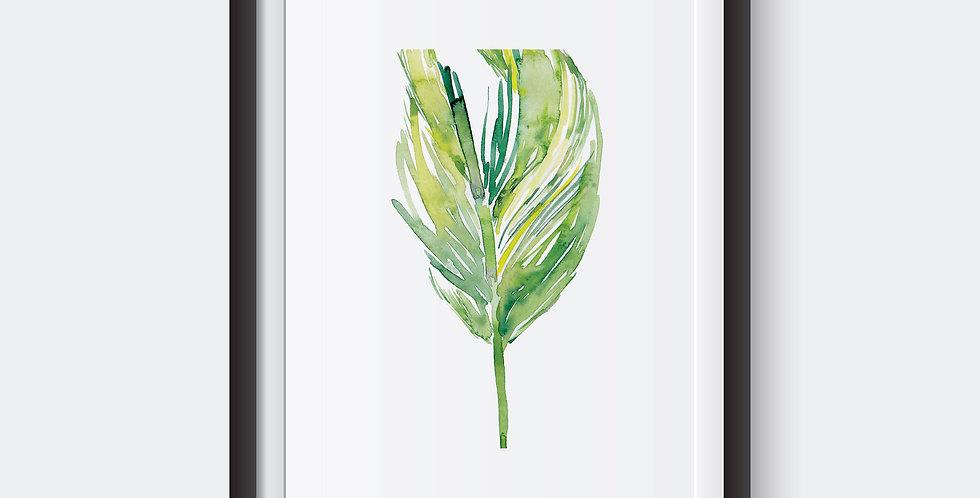 Tropical Leaf Print