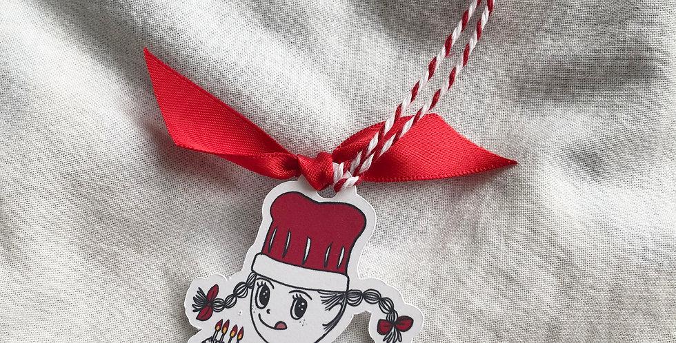 Holiday Baking Girl Ribbon Book Mark