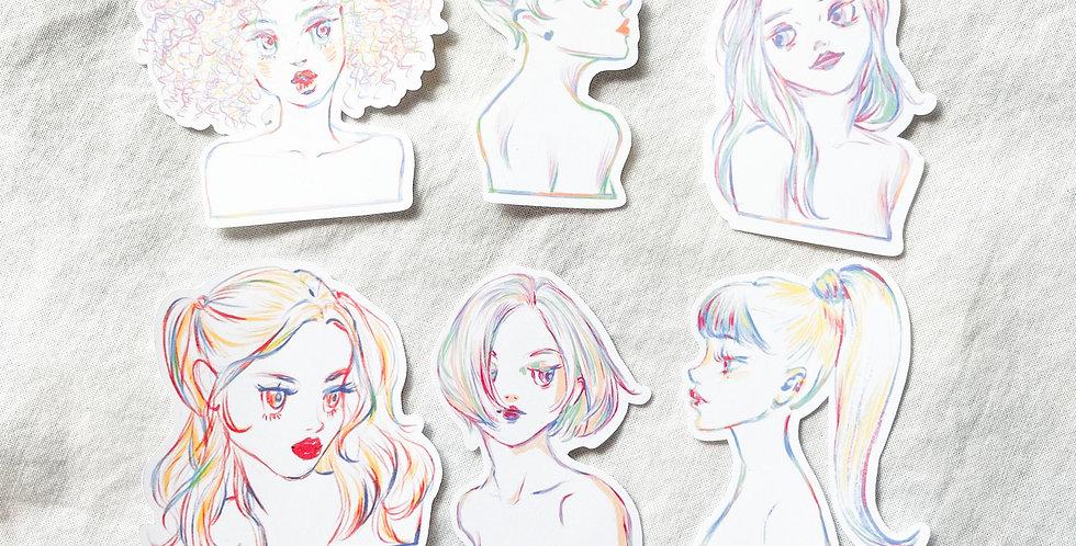 Vivid Girls Stickers