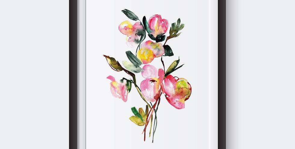 Pink Helleborus Print 2