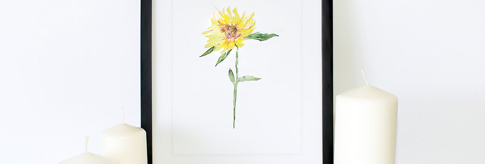 Sunflower Poster Print