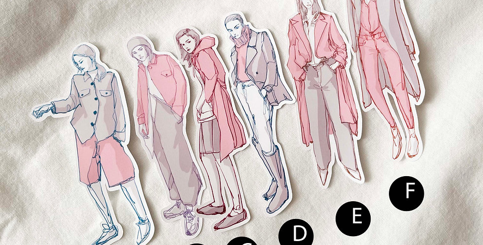 Comfy look Girls (Pink and Grey) - Whole Body