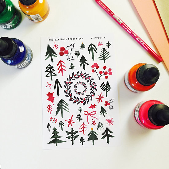 Holiday Mood Decoration Stickers