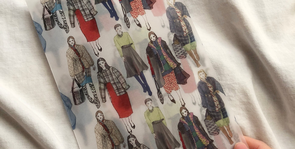 B@lenciaga Winter Fashion Girls Vellum paper (Folded)