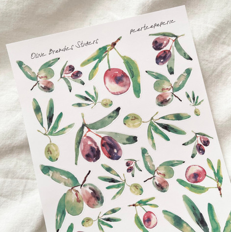 Olive Branches Stickers