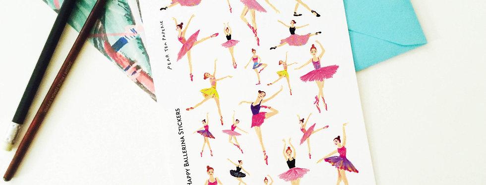 Happy Ballerina sticker set