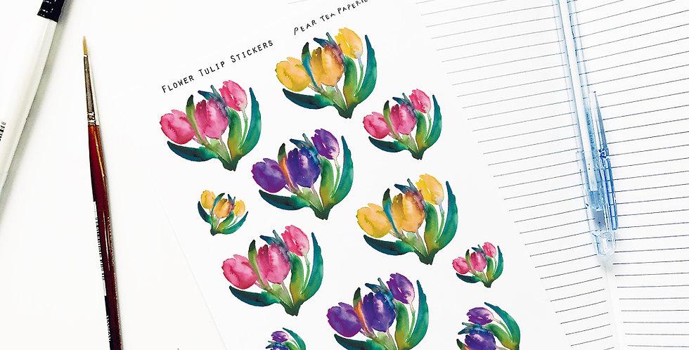 Flower Tulip Stickers