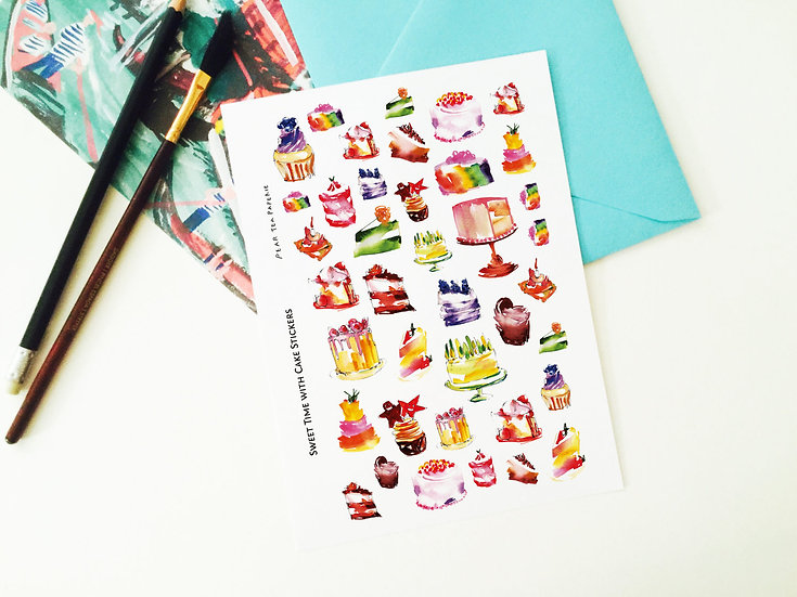 Sweet Time with Cake Stickers