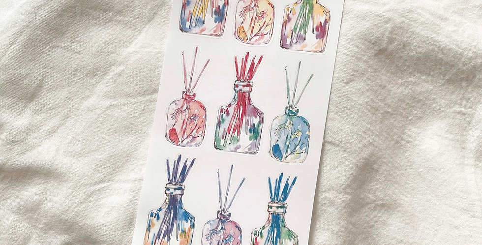 Watercolored Diffusers Stickers