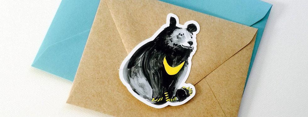 Moon Bear Big Die cut Sticker