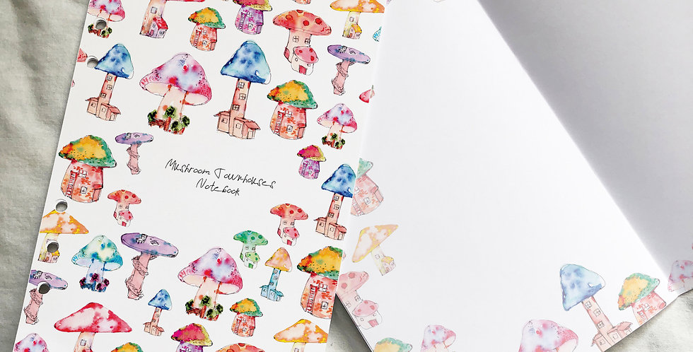 Mushroom Townhouses Notebook inserts