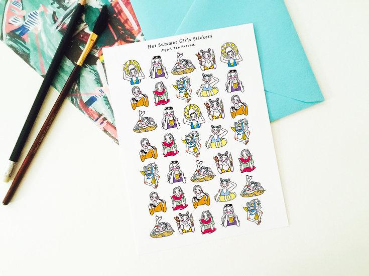 Mini Hot Summer Girls! Stickers